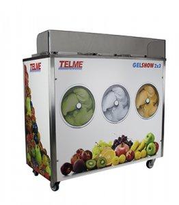 Prodejní výrobník kopečkové zmrzliny Gelshow 6 a 8 s vitrínou