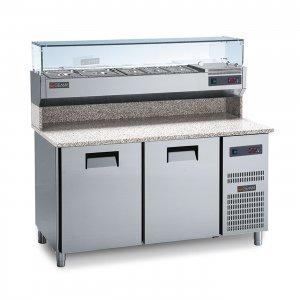 Chladící pizza stůl s žulovou deskou PC 150