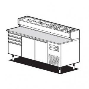 Chladící stůl pro pizzerie Smart/1CF
